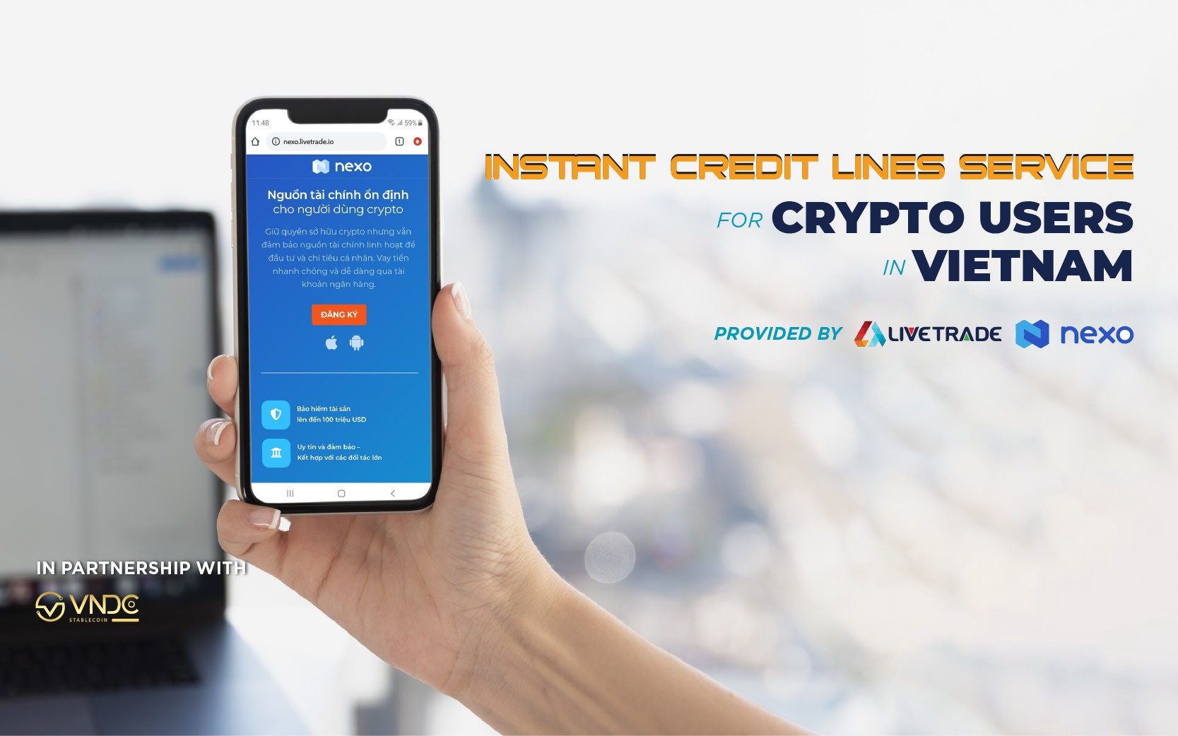LiveTrade Establishes Partnership with Nexo to Deploy the Instant Crypto Credit Lines™ in Vietnam