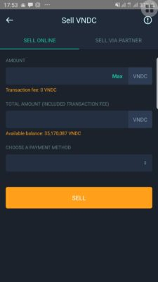 Sell VNDC for VND